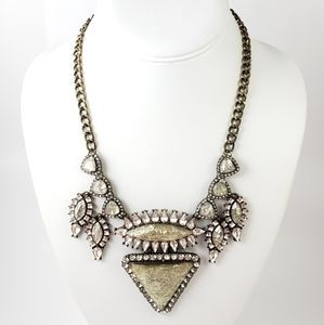 BaubleBar Statement Necklace Blush Rhinestoned